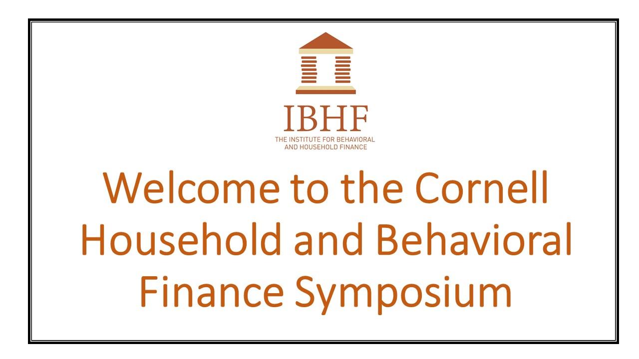 Essays in behavioral household finance